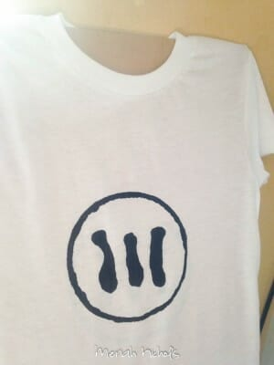 down syndrome white t-shirt with black ink