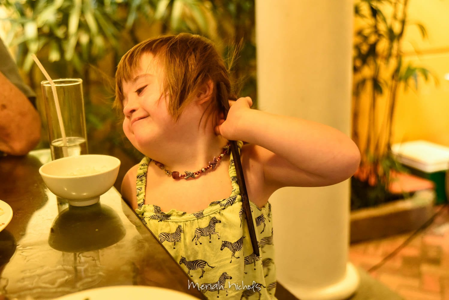 How a typical day unfolds in Penny's life. Penny is a middle-school student and has Down syndrome.