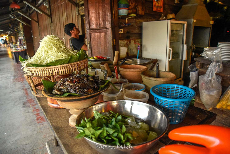 Meriah Nichols Amphawa Floating Market green papaya