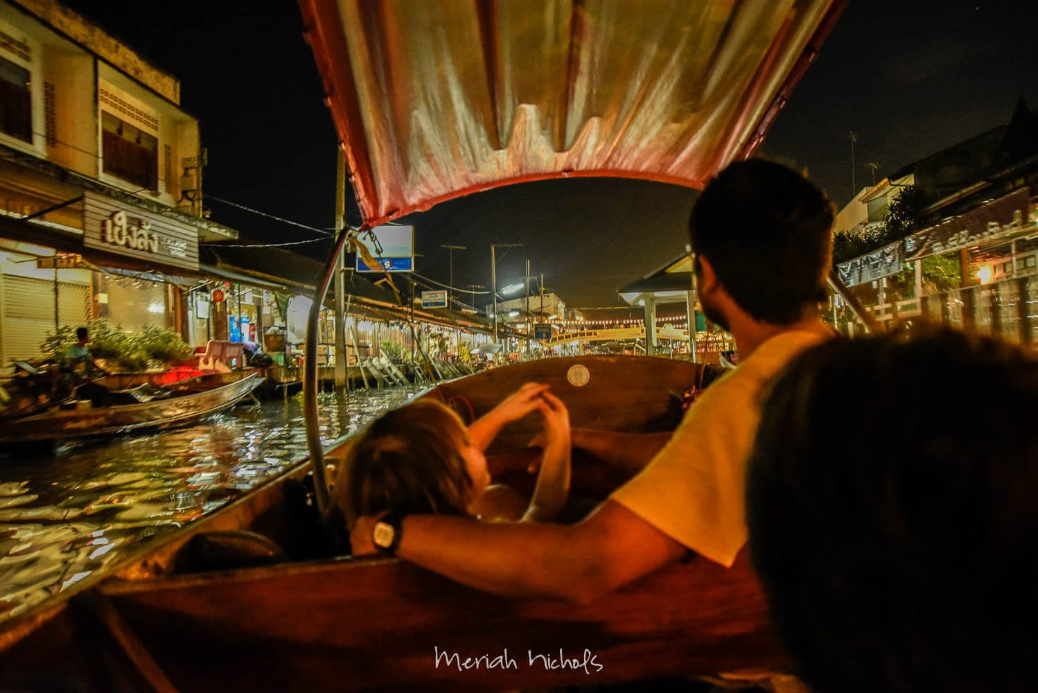 nigh boat ride to see the fireflies at Amphawa floating market