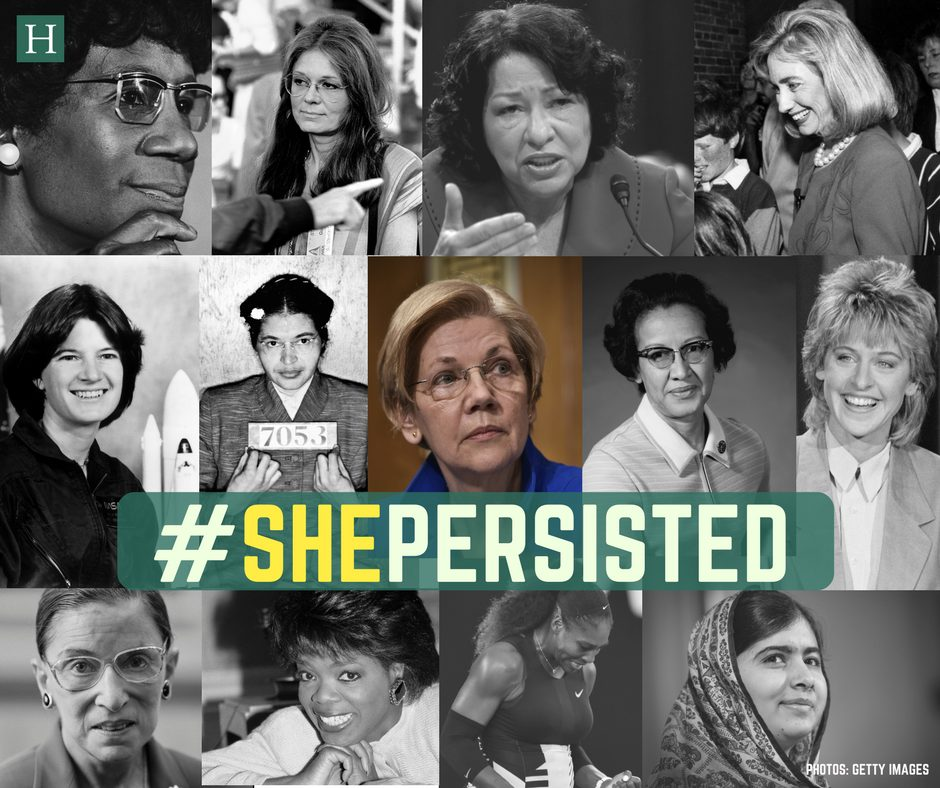 #shepersisted She Persisted - image description of photos of various women who are leaders in rights movements around the world