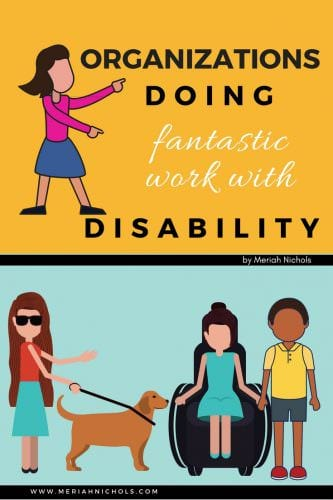 disability related organizations doing fantastic work