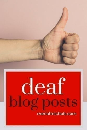 """A collection of deaf blogger Meriah Nichols' deaf blog posts. Essays, resources, organizations and more (be sure to click """"load more"""""""