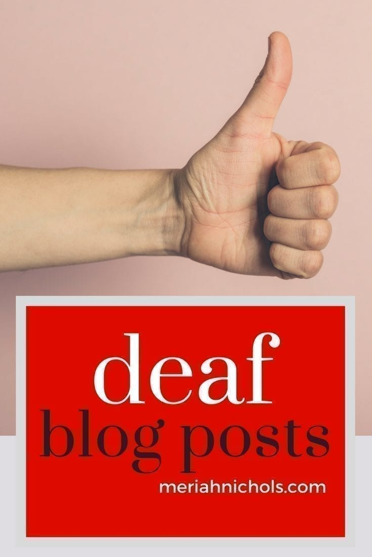 "A collection of deaf blogger Meriah Nichols' deaf blog posts. Essays, resources, organizations and more (be sure to click ""load more"""