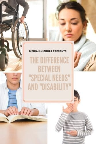 """the difference between """"special needs"""" and """"disability"""""""