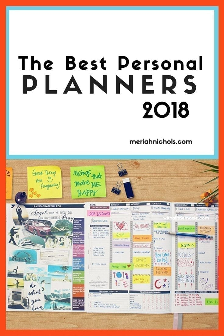 best personal planners for 2018