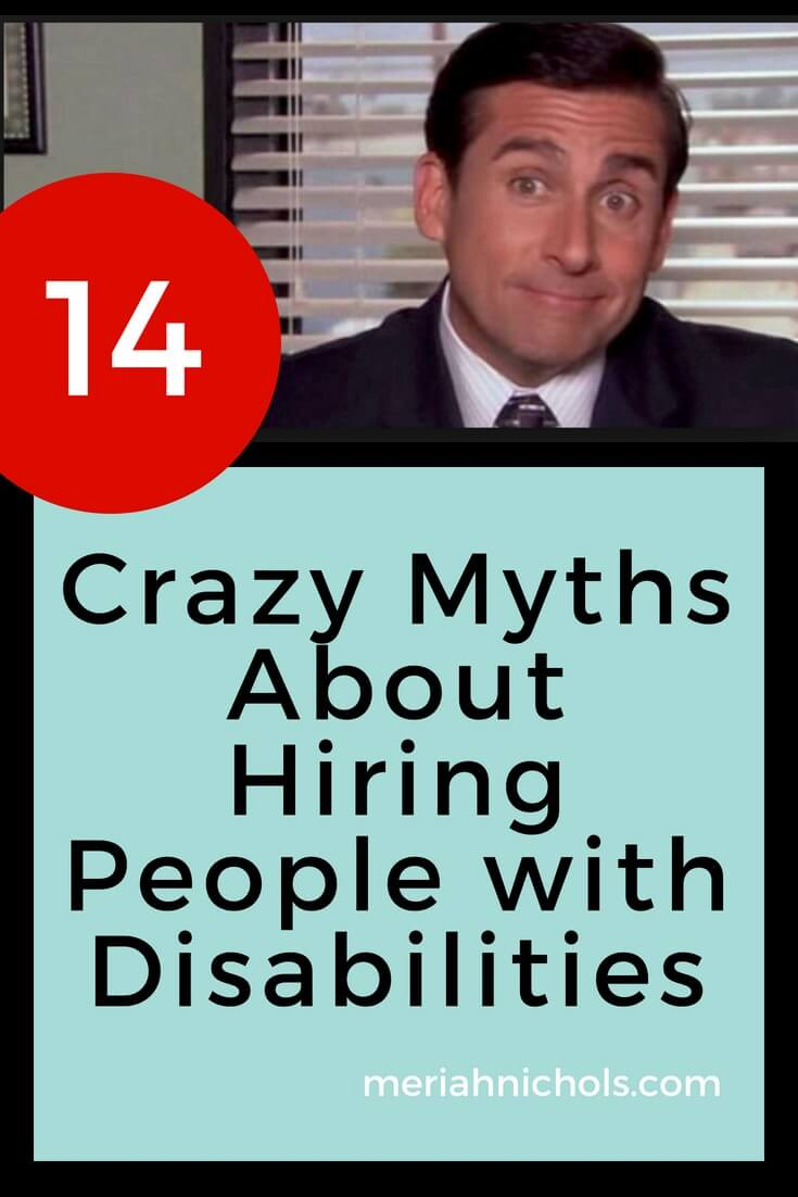 You thought you heard it all, but have you? 14 super-crazy (but very real!) myths about hiring people with disabilities - featuring The Office gifs and solutions | disability | disability awareness | disability and employment | career | career options and disability | special needs |