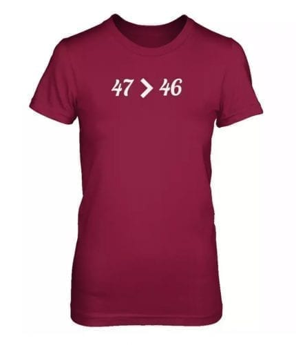 47 > 46 47 is greater than down syndrome t-shirt