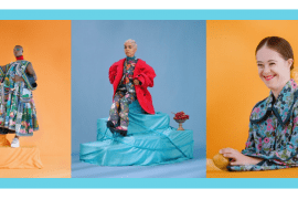 what the teen vogue article on disabled models tells us: three separate images. first, model with dark skin and bright clothes is standing on her prosthetic leg with her arm raised. her background is orange. the next photo is a model with bright blonde hair and brown hair sitting on a blue surface; the background is blue. the last photo is a model with light skin and who has Down syndrome, smiling, her background is orange