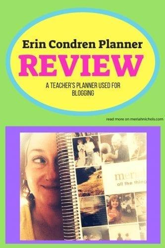 erin condren planner for bloggers and teachers