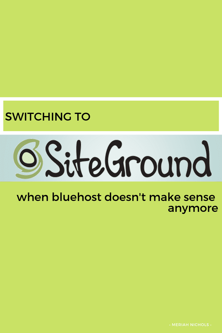 from bluehost to SiteGround