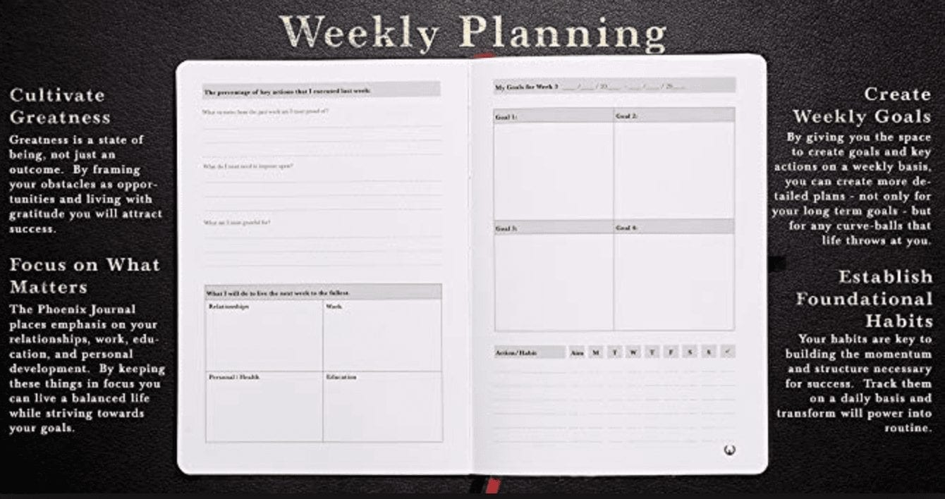 weekly planning with the phoenix journal