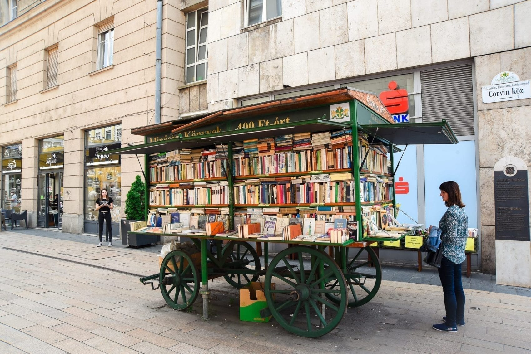 book cart in budapest