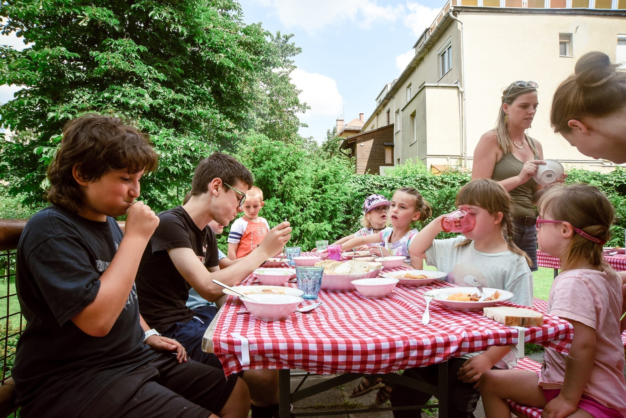 summer meal in Budapest