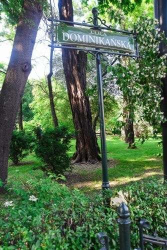 path in city park in krakow