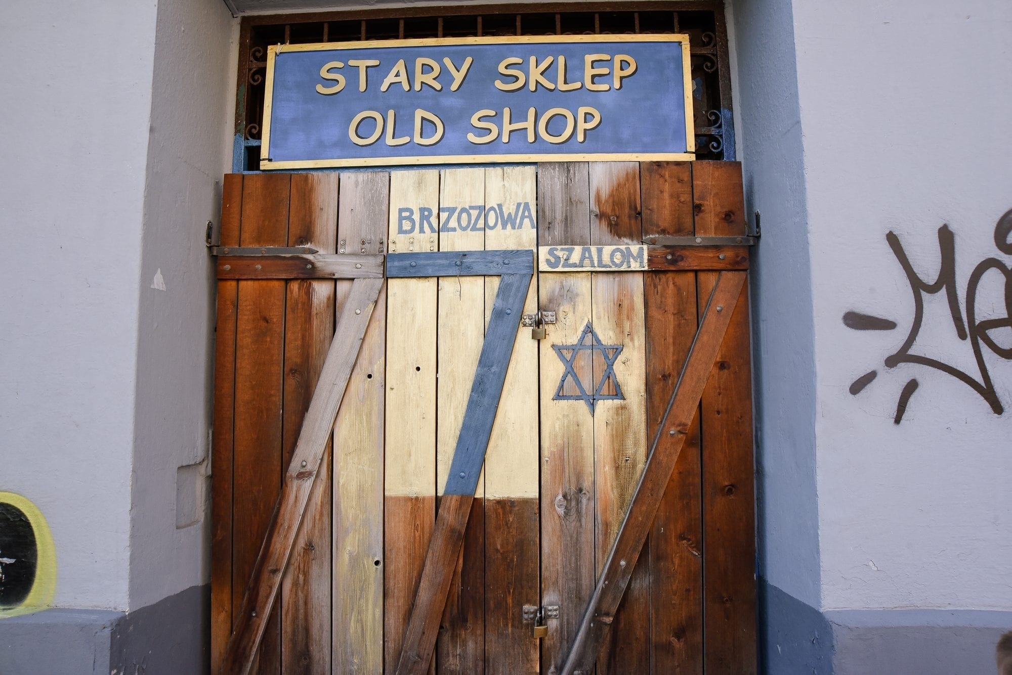 an old shop front in krakow