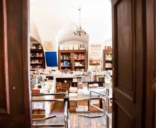 bookstore in jewish quarter of krakow