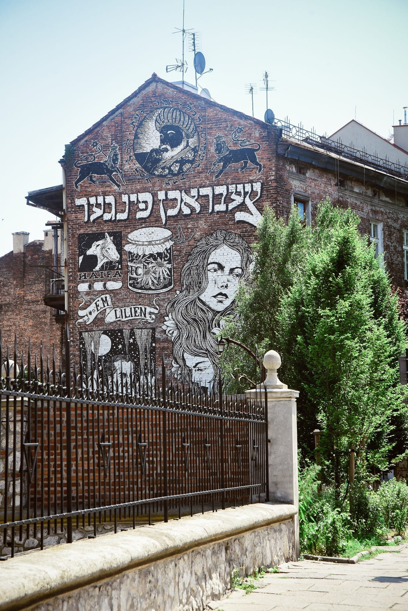 wall in jewish quarter, krakow