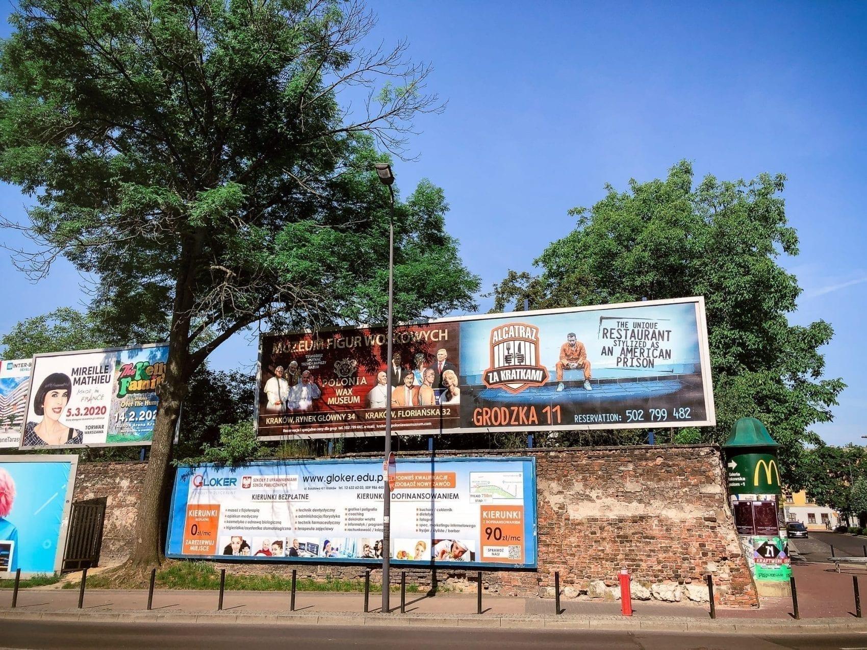billboards in Krakow