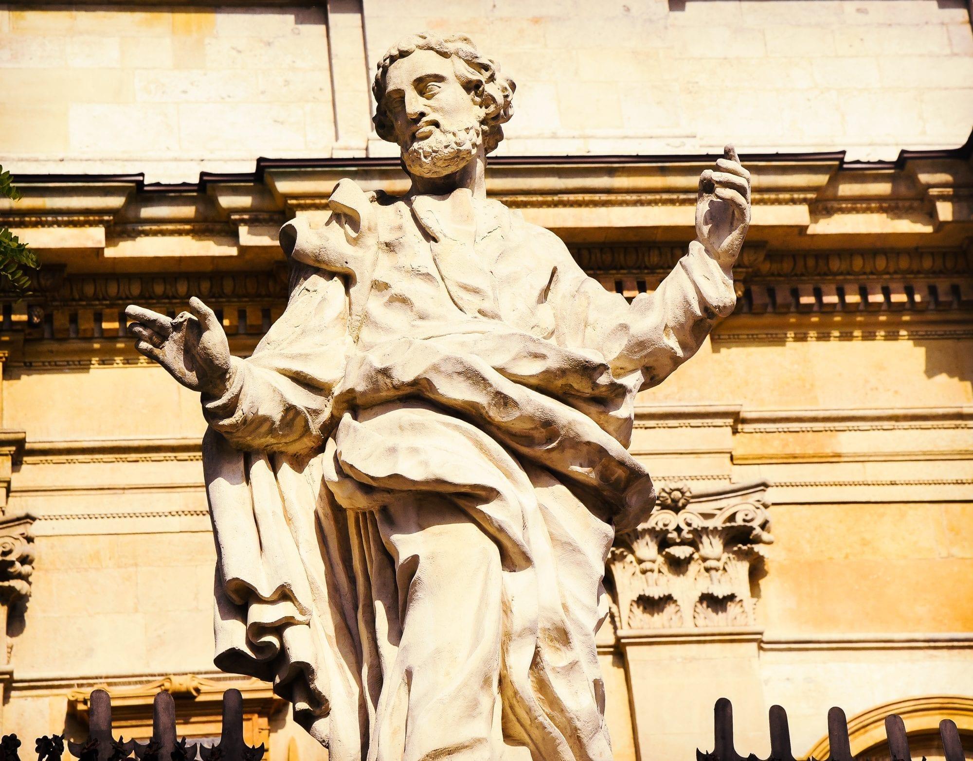 old statue in krakow