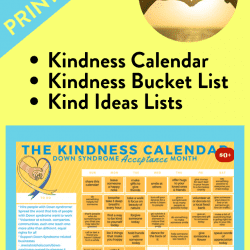 The Kindness Calendar and Kind Ideas Bucket List Free Printables