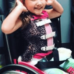 child uses wheelchair carried on school trip