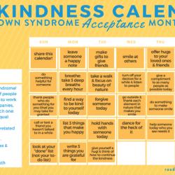 the kindness calendar