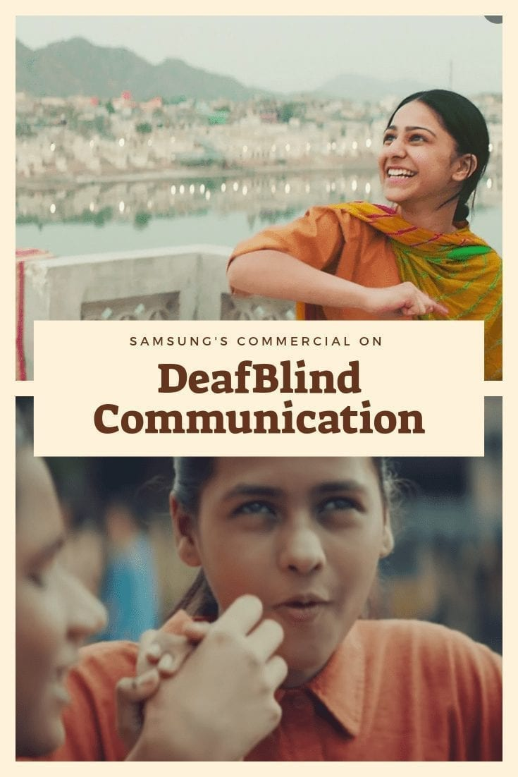 "text reads, ""samsung commericial on DeafBlind communication"""