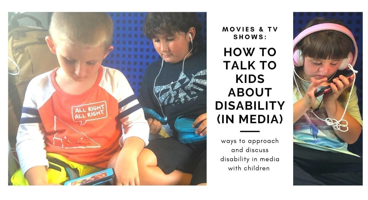 how to talk to kids bout disability in media