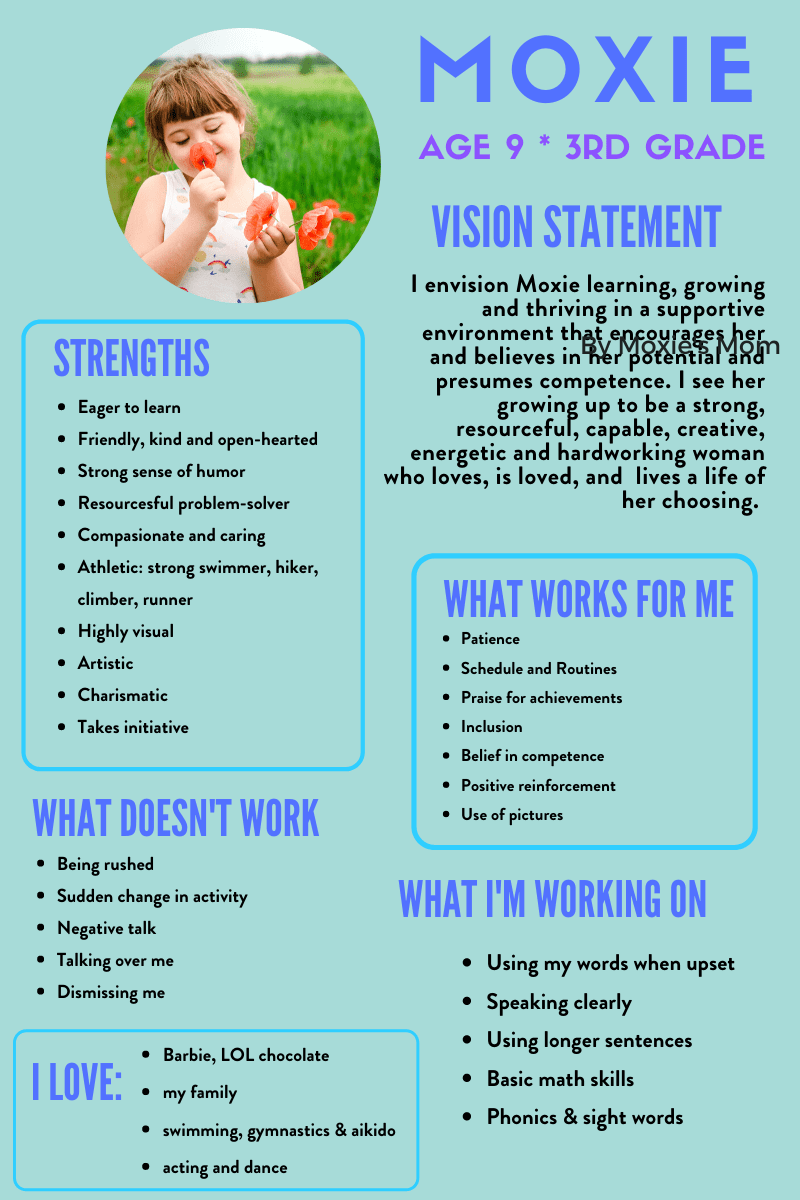 IEP Resources: Moxie IEP Vision Statement One Pager
