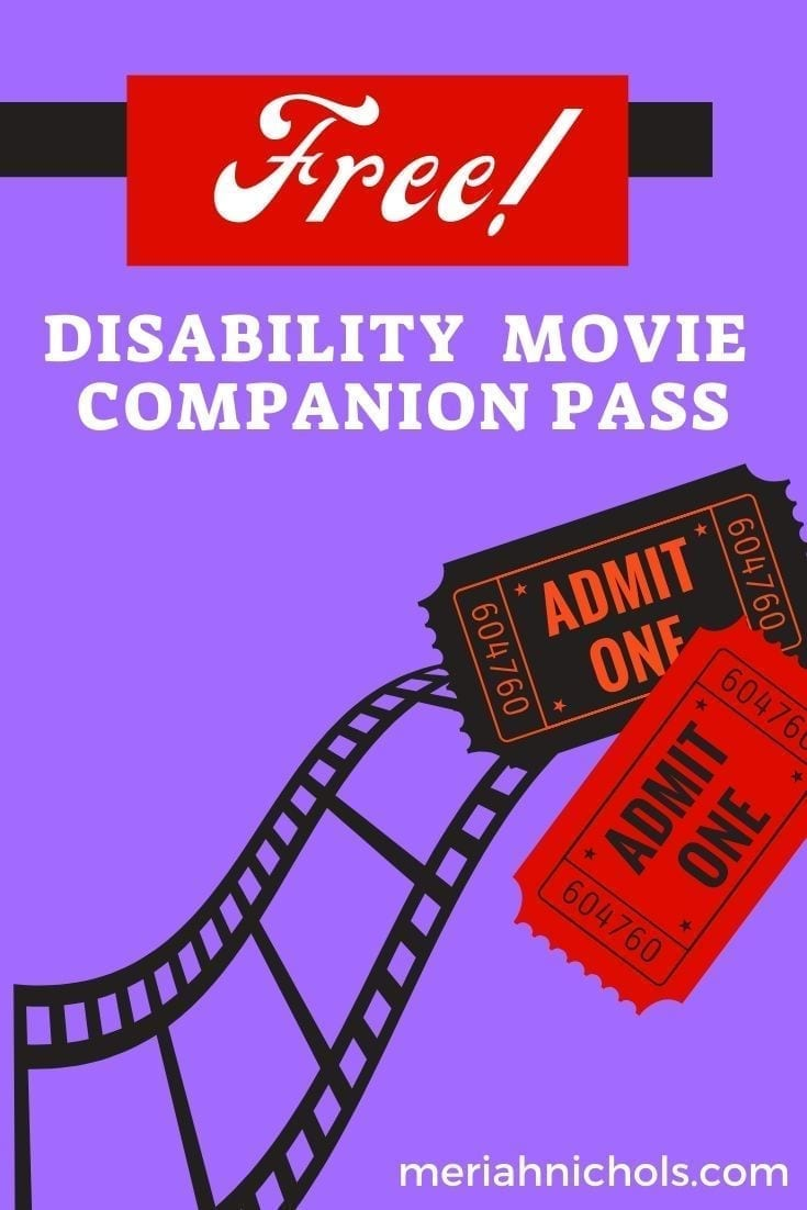 how to get a free disability movie companion pass