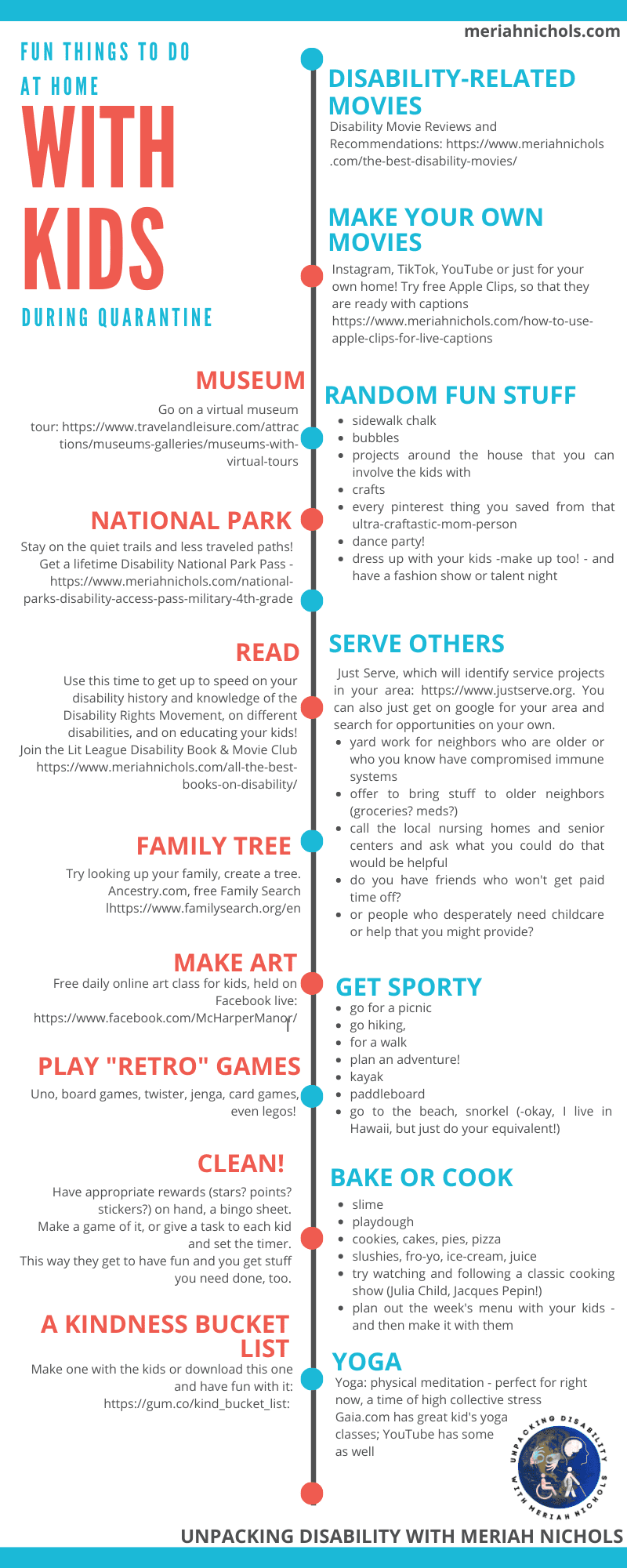 Fun Things to Do with Kids at Home: Infographic!