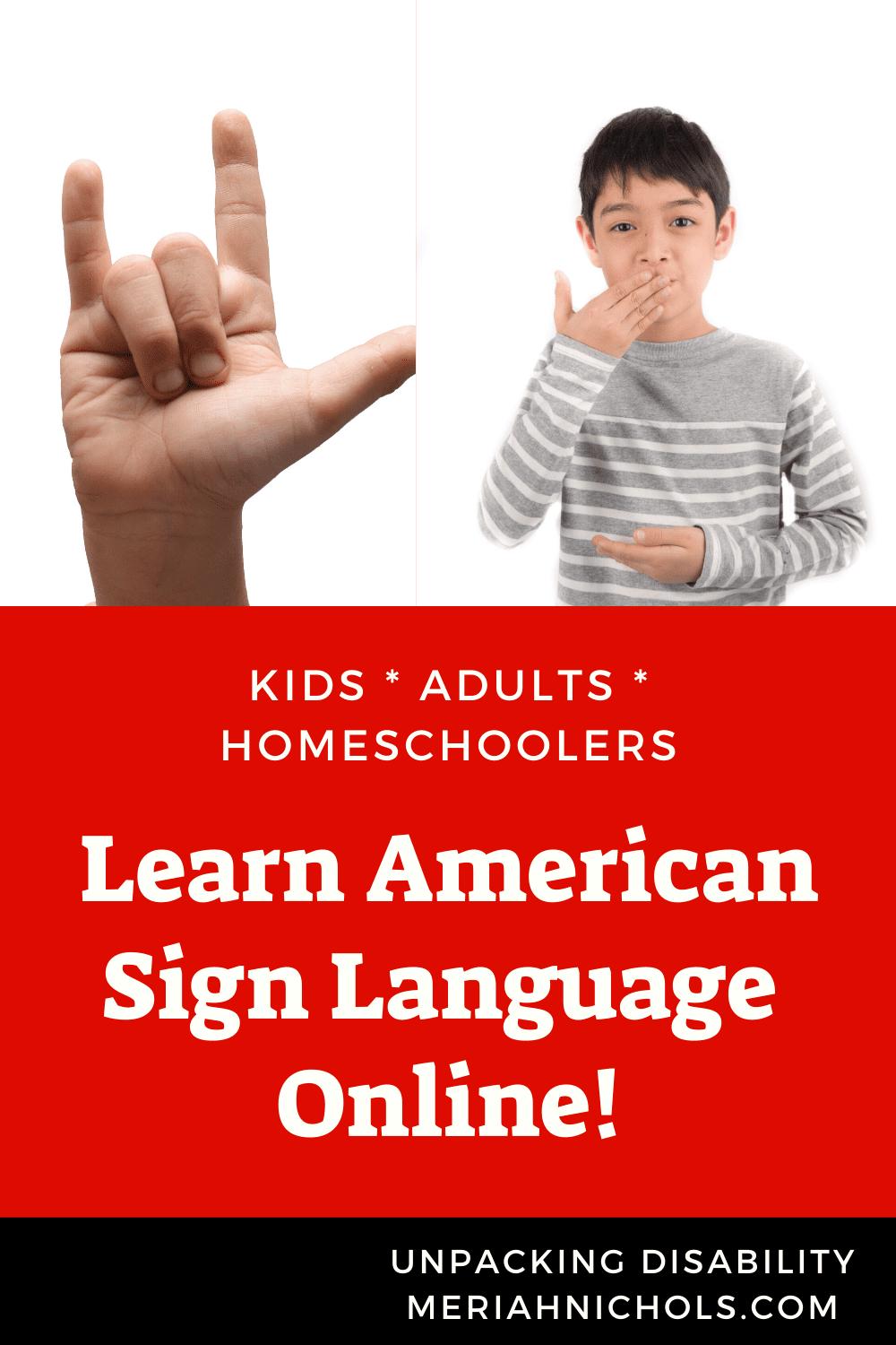 learn asl online