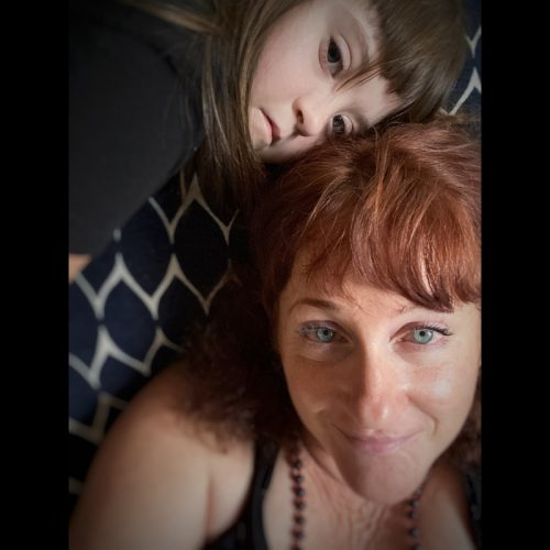 image of a daughter with mother, daughter has down syndrome