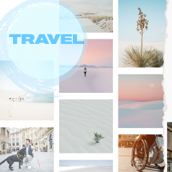 """collage of images; text reads """"travel"""""""