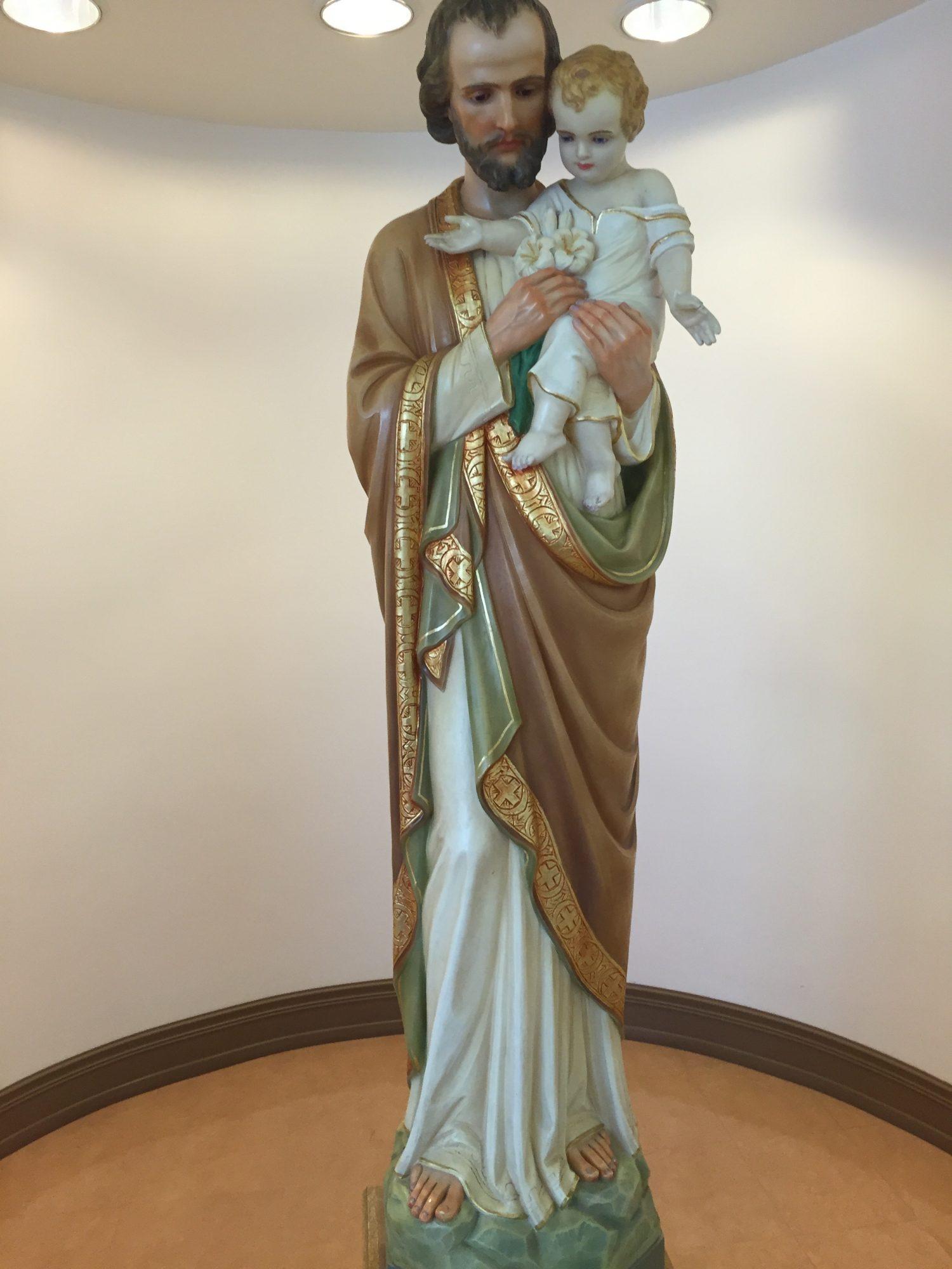 STATUE OF white Jesus