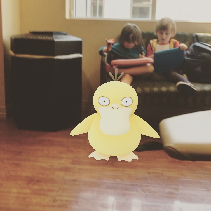 kids in the waiting room with iPads and a pokemon